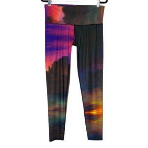 Teeki Clouds Hot Pant Leggings Multicolor Sunset